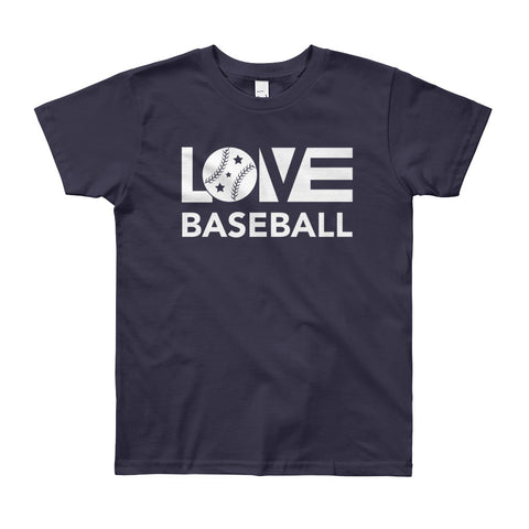 LOV=Baseball Youth Tee (8yrs-12yrs)