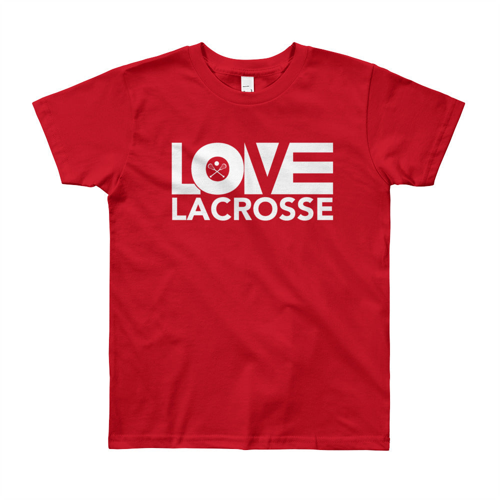 Red LOV=Lacrosse Youth Tee