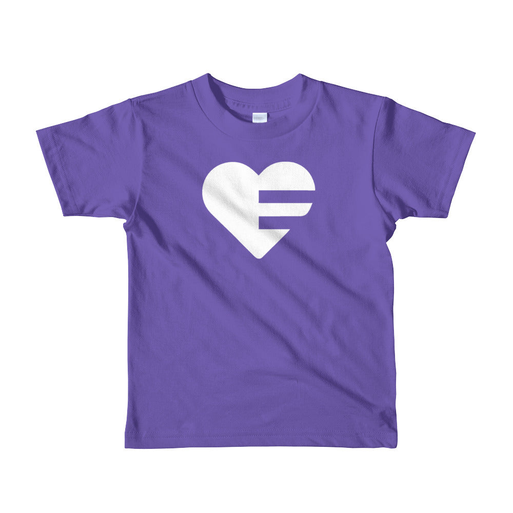 Purple Solo Heart Kids Tee