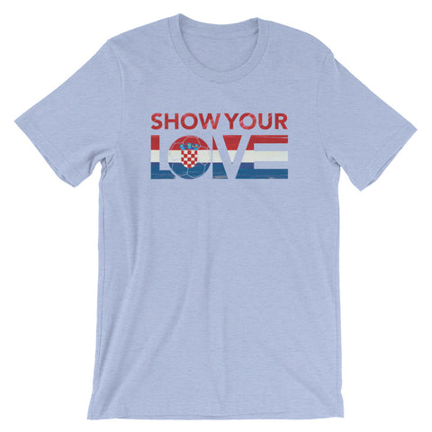 Show Your Love Croatia Unisex Tee