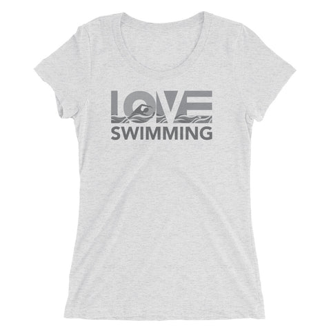 LOV=Swimming Ultra Slim Fit Triblend Tee