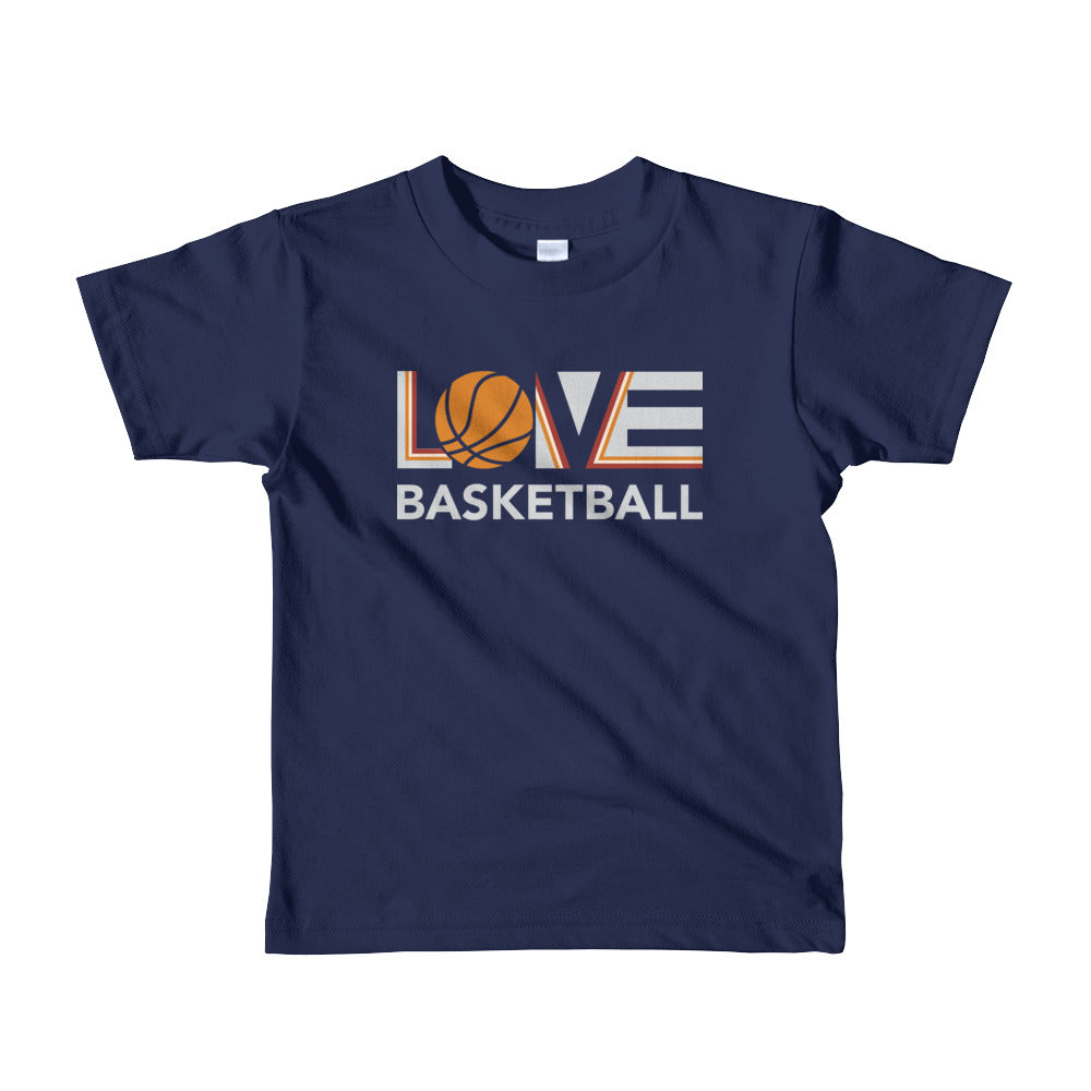 Navy LOV=Basketball Kids Tee