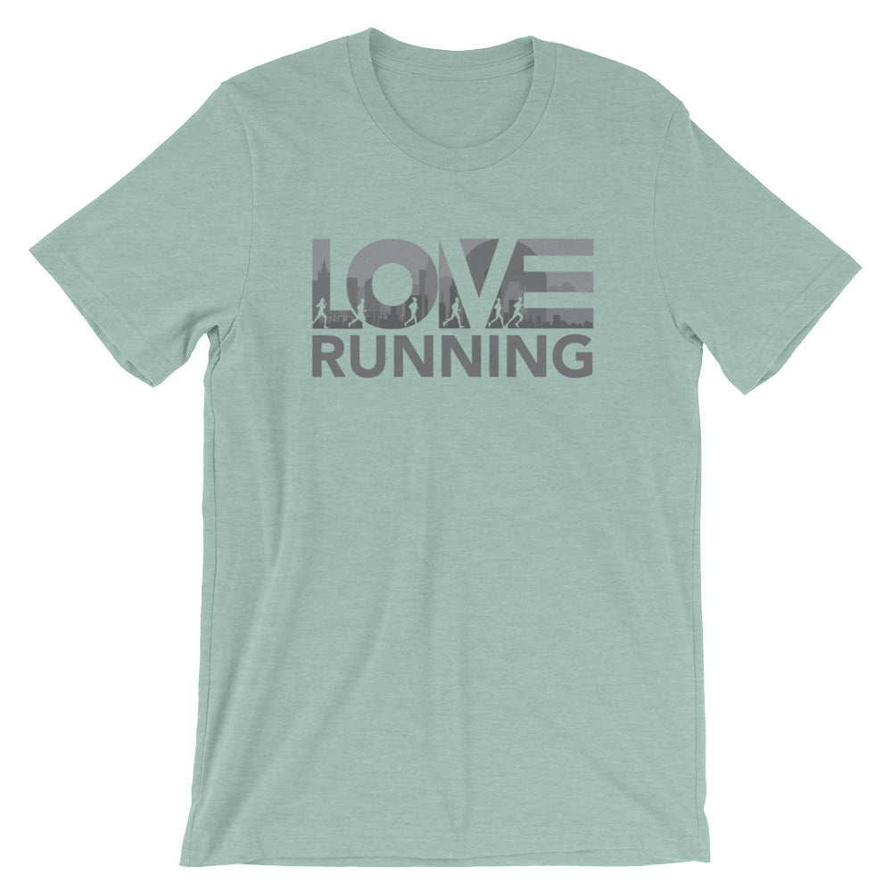 Dusty blue LOV=Running Unisex Tee