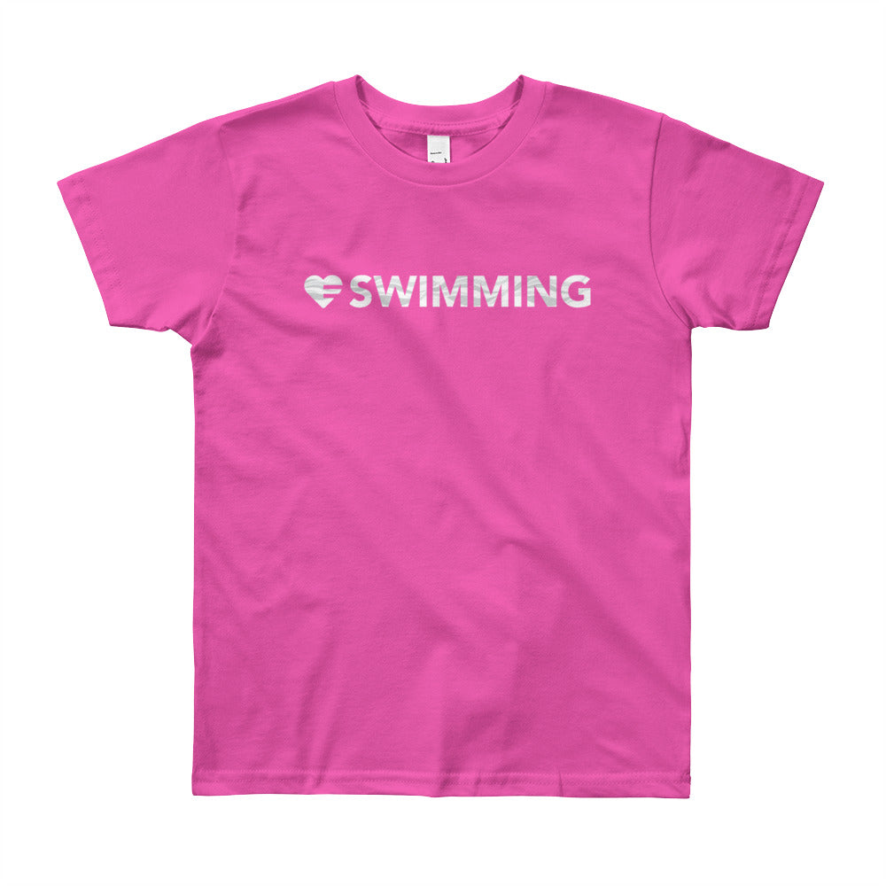 Fuchsia Heart=Swimming Youth Tee