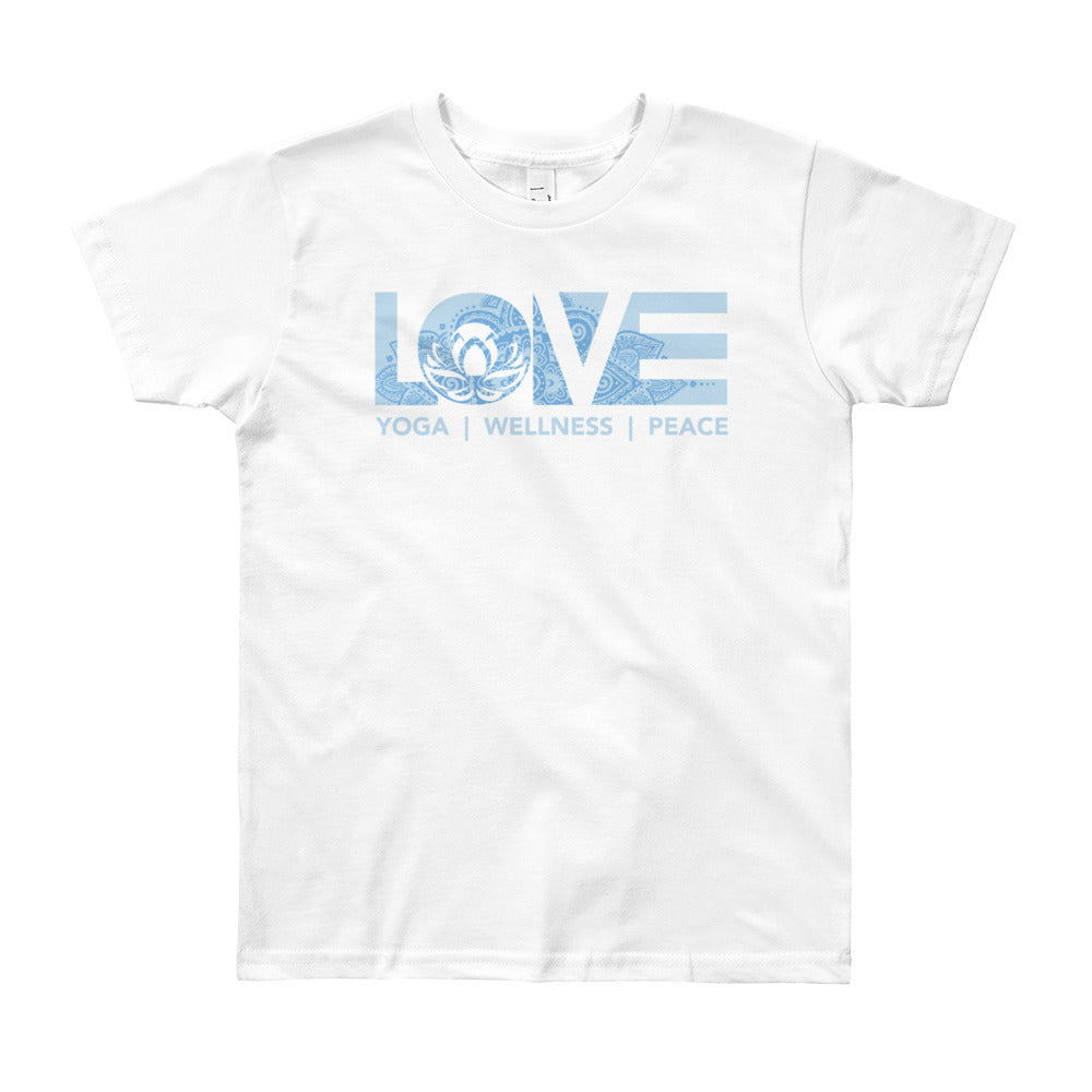 White LOV=Yoga Youth Tee