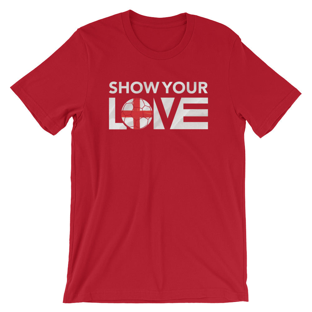 Red Show Your Love England Unisex Tee