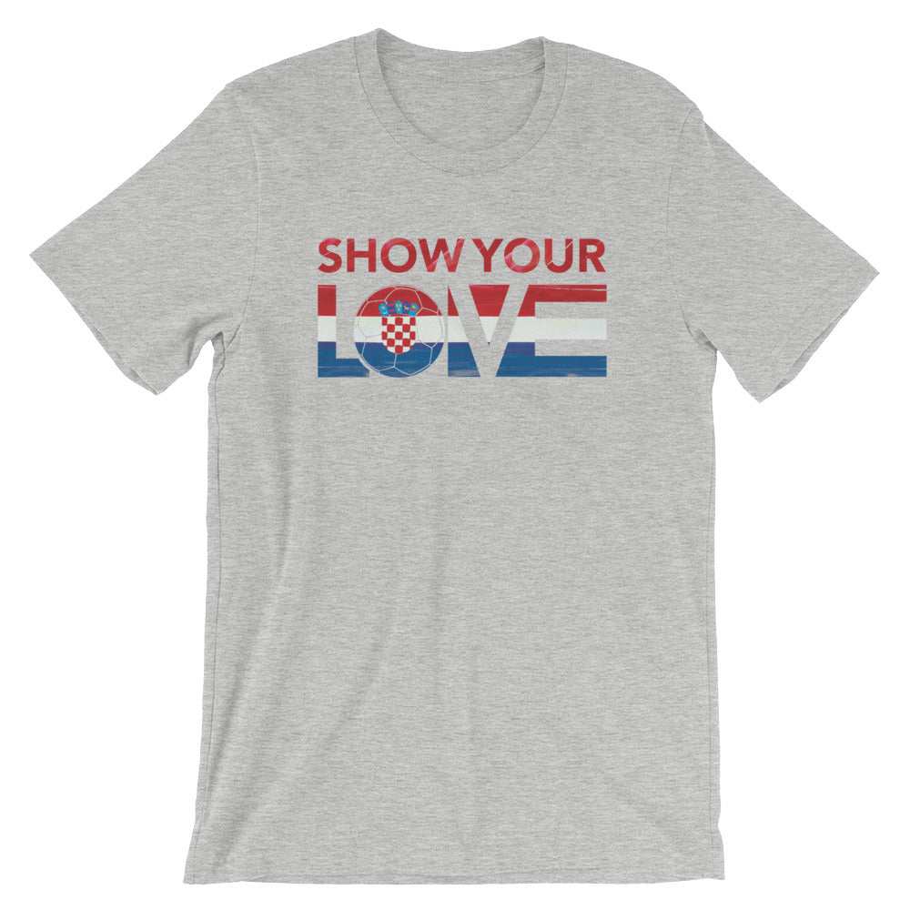 Athletic Heather Show Your Love Croatia Unisex Tee