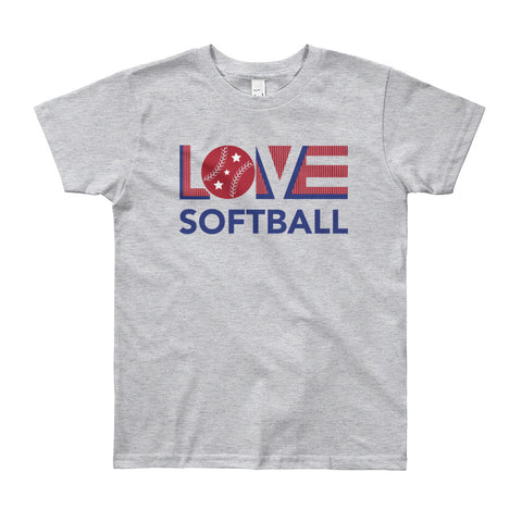 LOV=Softball Youth Tee (8yrs-12yrs)