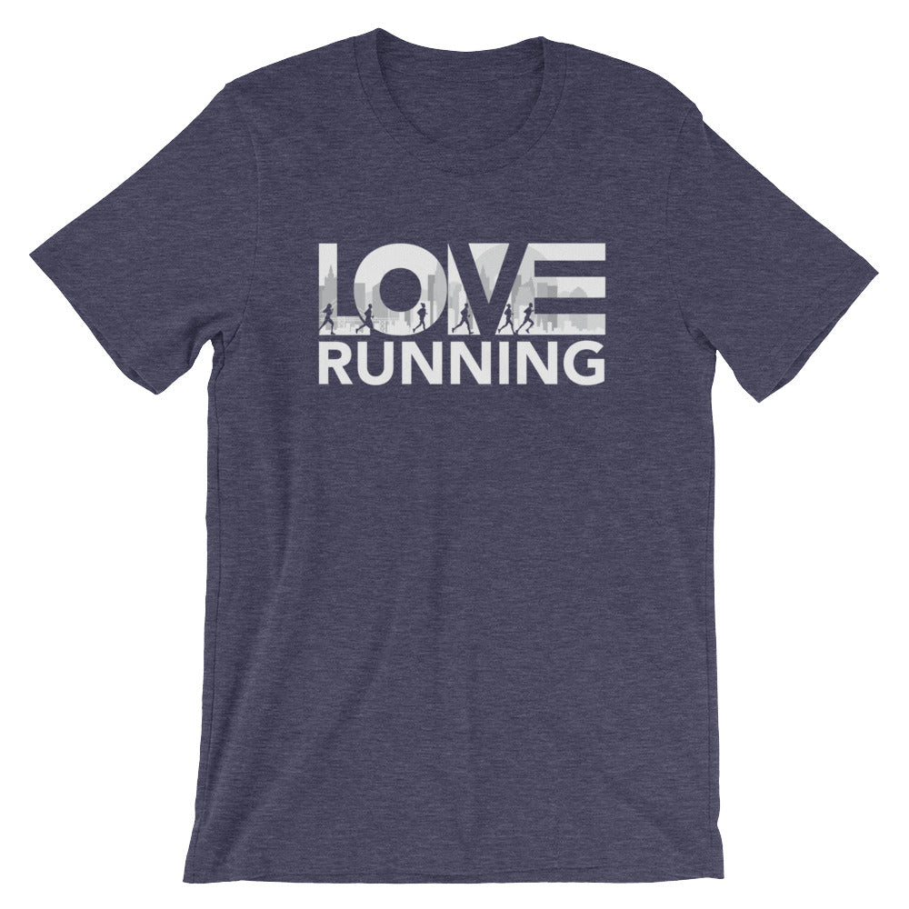 Midnight navy LOV=Running Unisex Tee