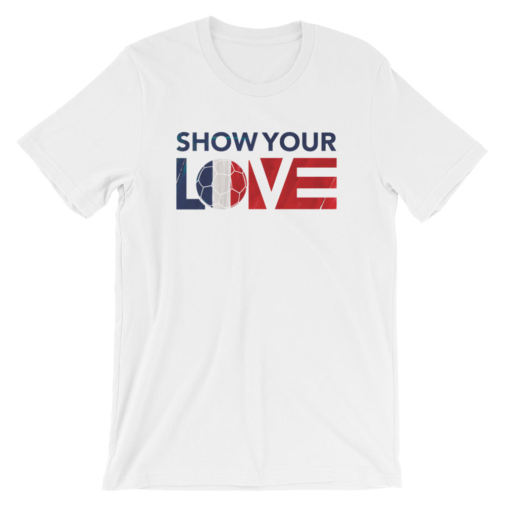 White Show Your Love France Unisex Tee