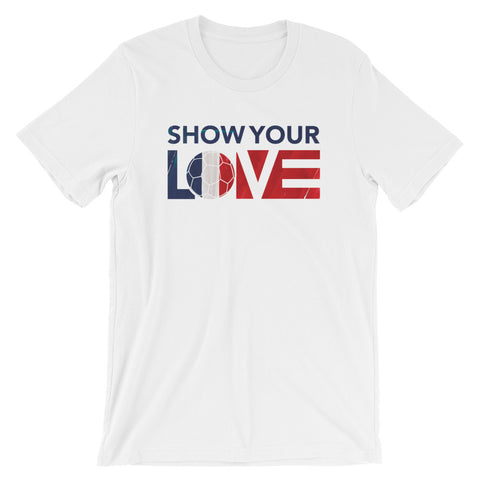 Show Your Love France Unisex Tee