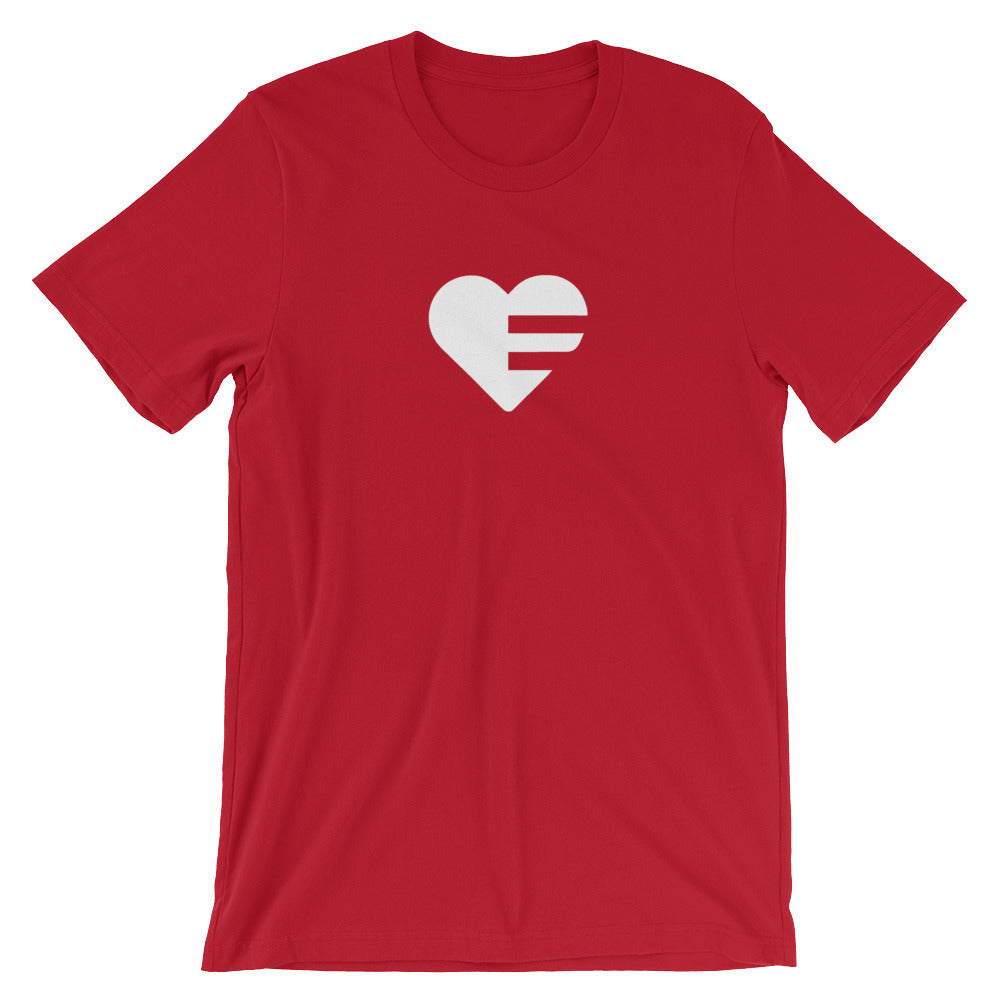 Heather Red Solo Heart Unisex Tee