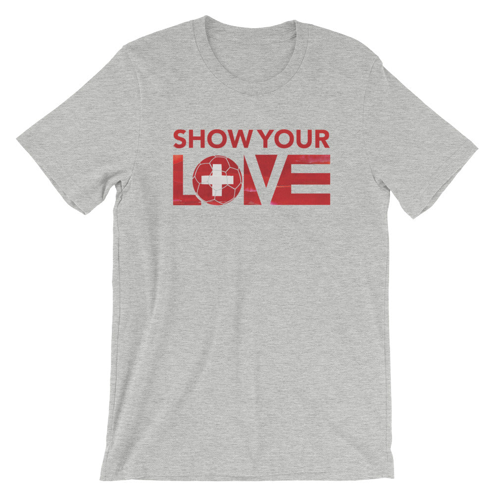 Athletic Heather Show Your Love Switzerland Unisex Tee