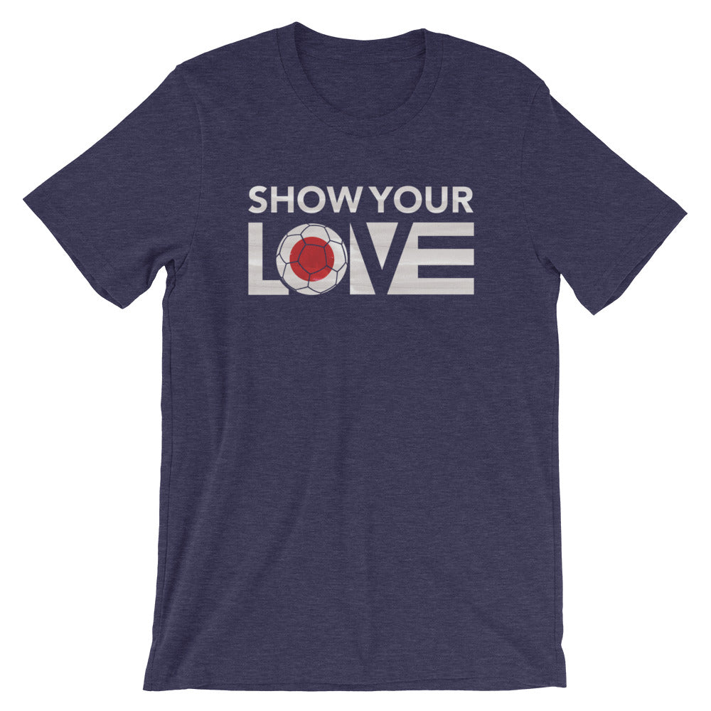 Heather Midnight Navy Show Your Love Japan Unisex Tee
