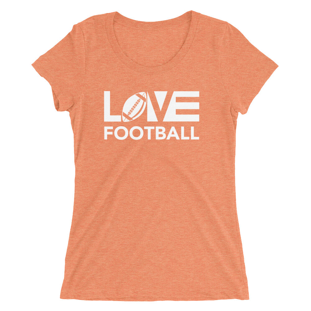 Orange LOV=Football Ultra Slim Fit Triblend Tee