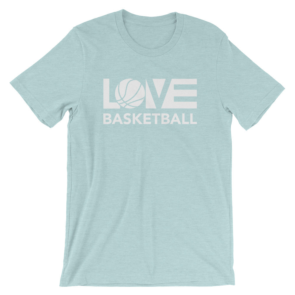 Ice blue LOV=Basketball Unisex Tee