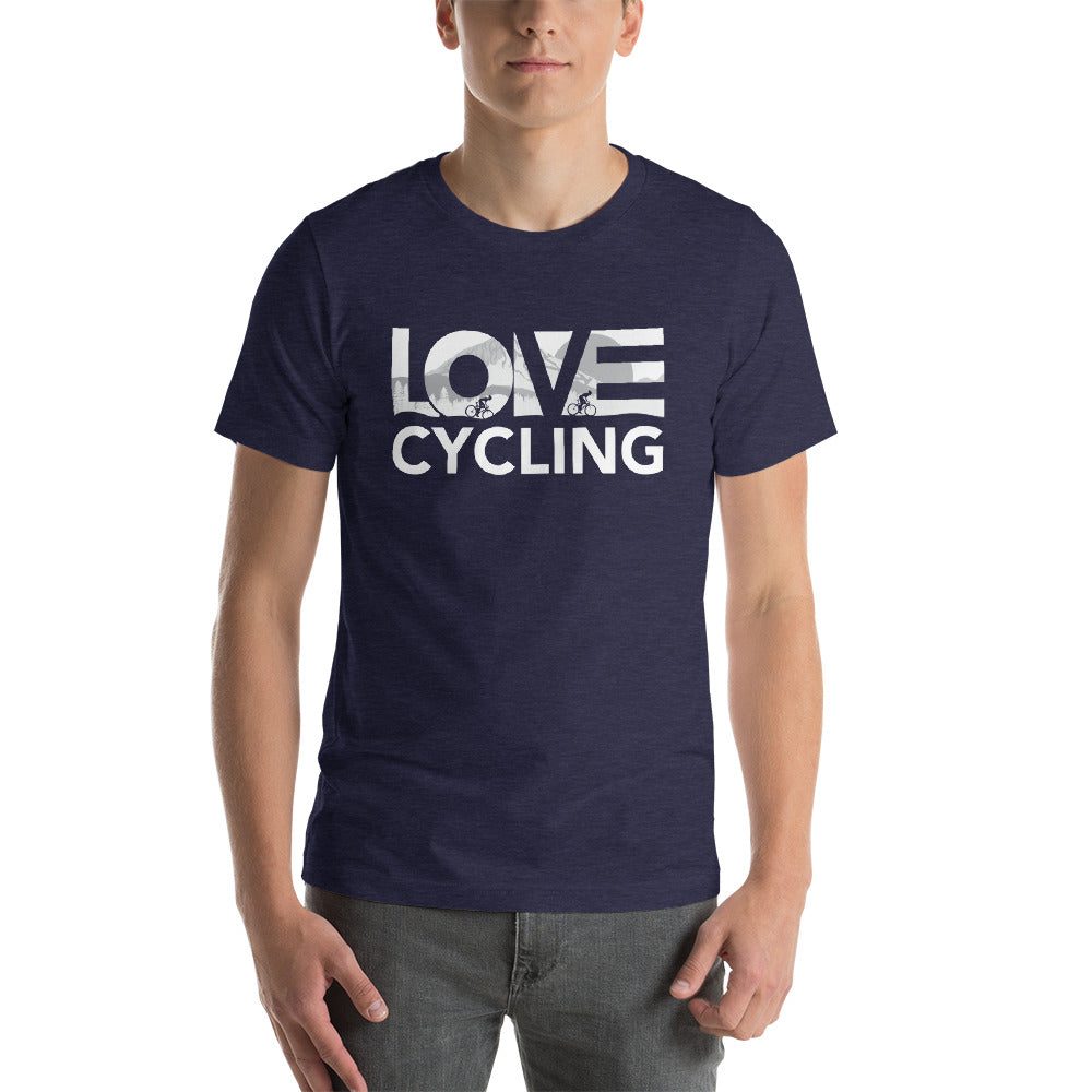 Midnight navy LOV=Cycling Unisex Tee