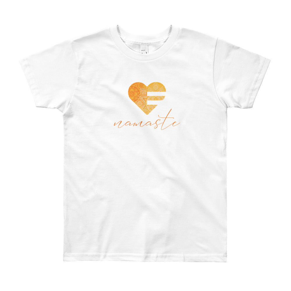 White Heart Namaste Youth Tee
