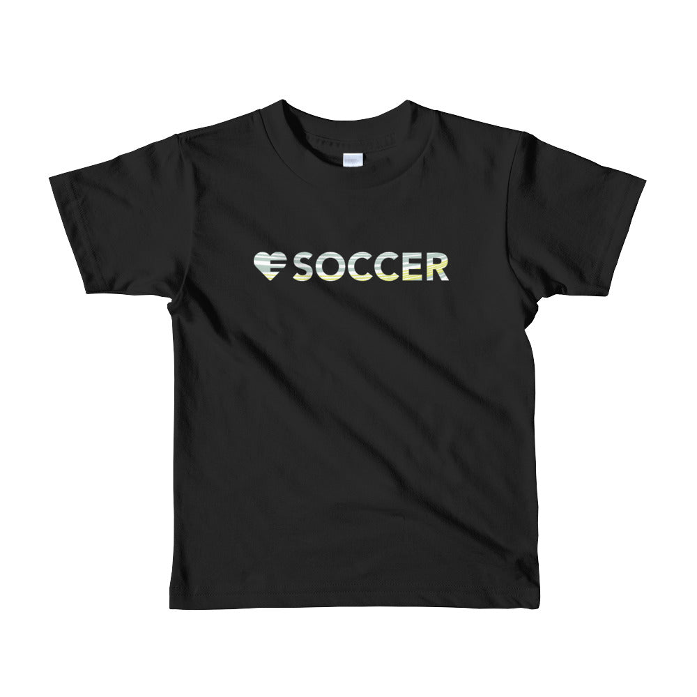Black Heart=Soccer Kids Tee