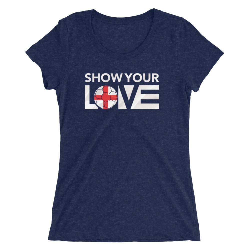 Navy Show Your Love England Slim Fit Tee