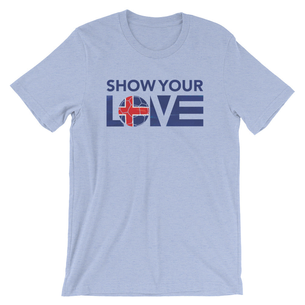 Heather Blue Show Your Love Iceland Unisex Tee