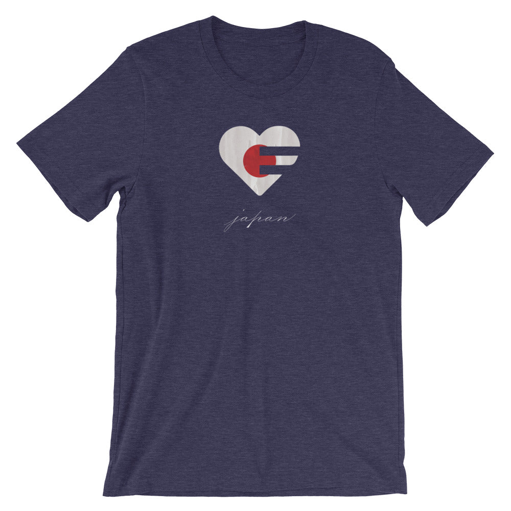 Midnight navy Japan Heart Unisex Tee