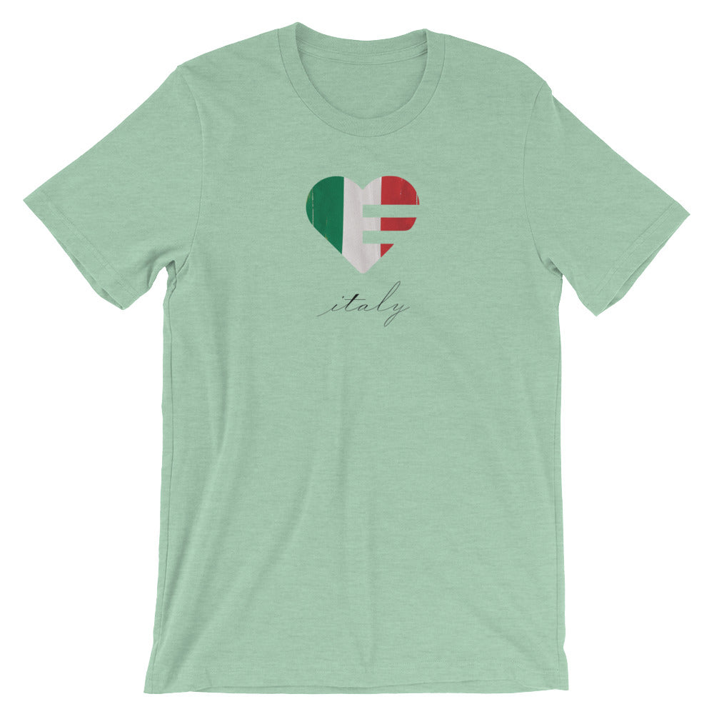 Prism mint Italy Heart Unisex Tee
