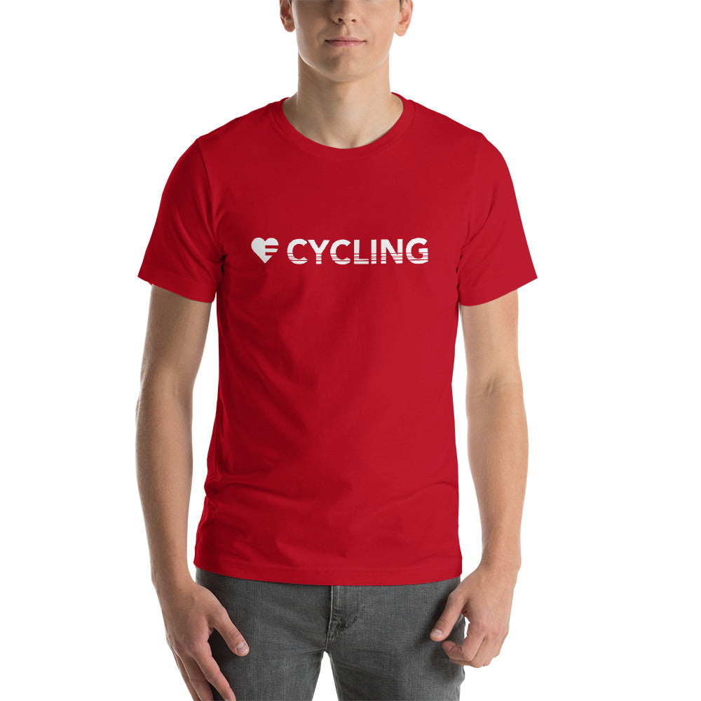 Red Heart=Cycling Unisex Tee