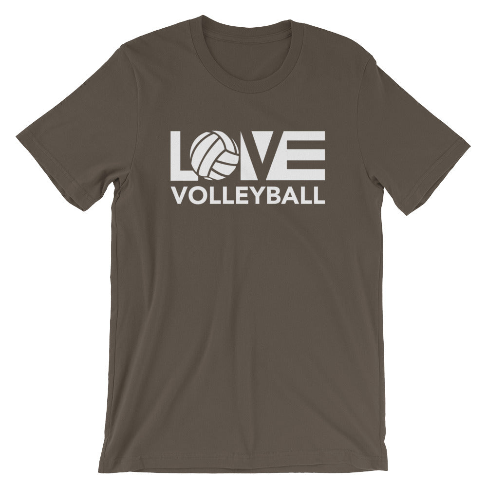 Army LOV=Volleyball Unisex Tee
