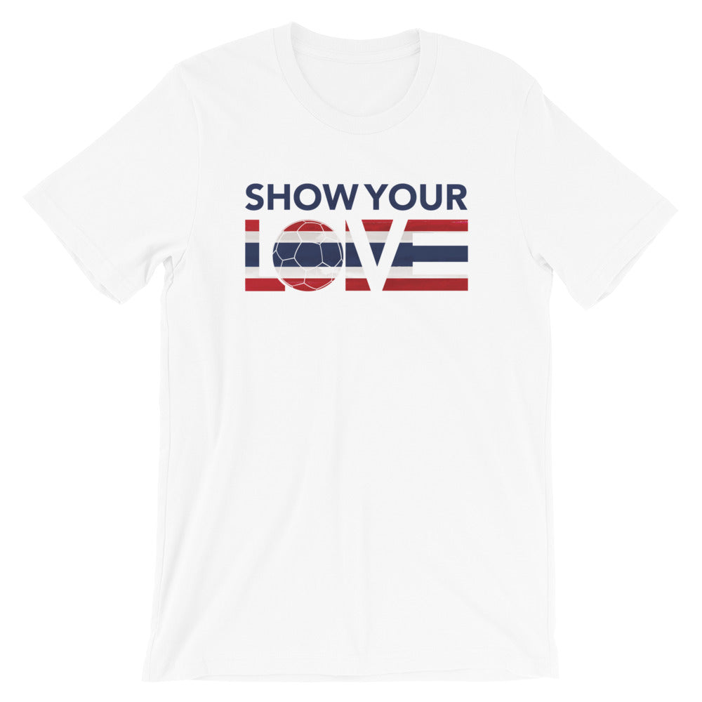 White Show Your Love Thailand Unisex Tee