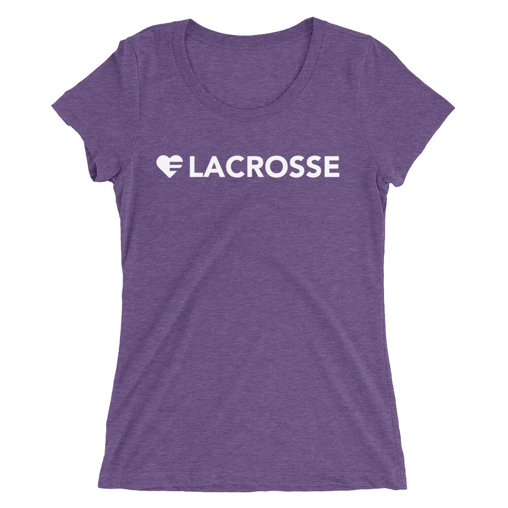 Purple Heart=Lacrosse Ultra Slim Fit Triblend Tee