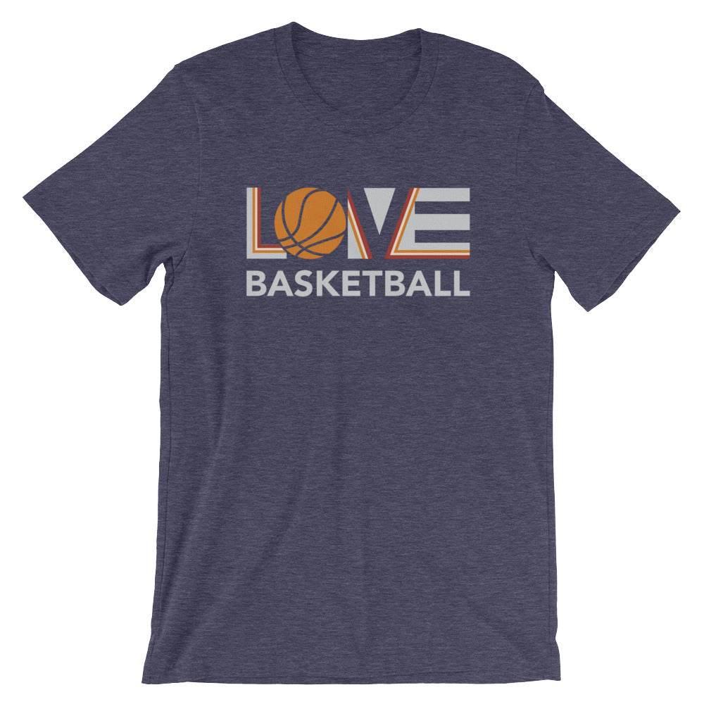 Midnight navy LOV=Basketball Unisex Tee