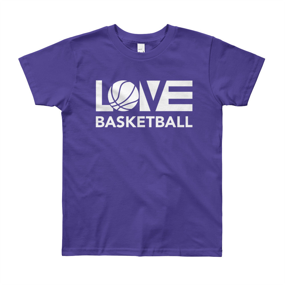 Purple LOV=Basketball Youth Tee