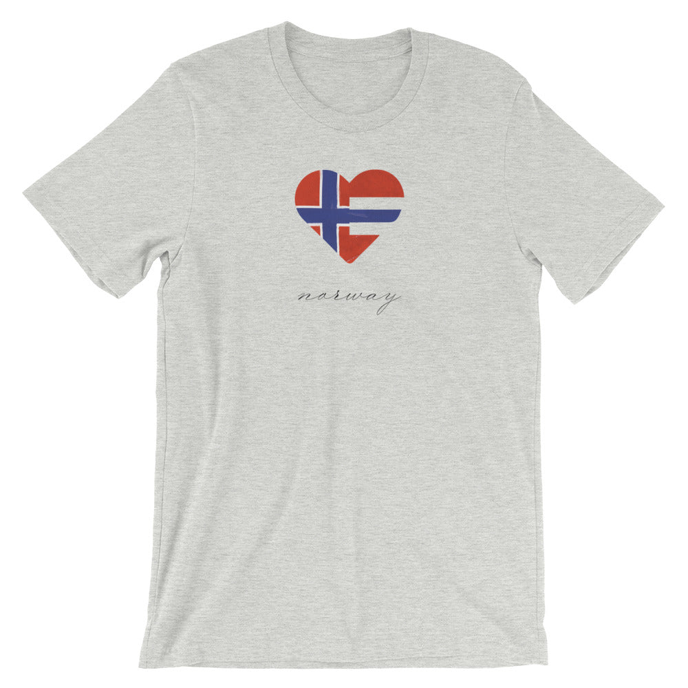 Athletic Heather Norway Heart Unisex Tee