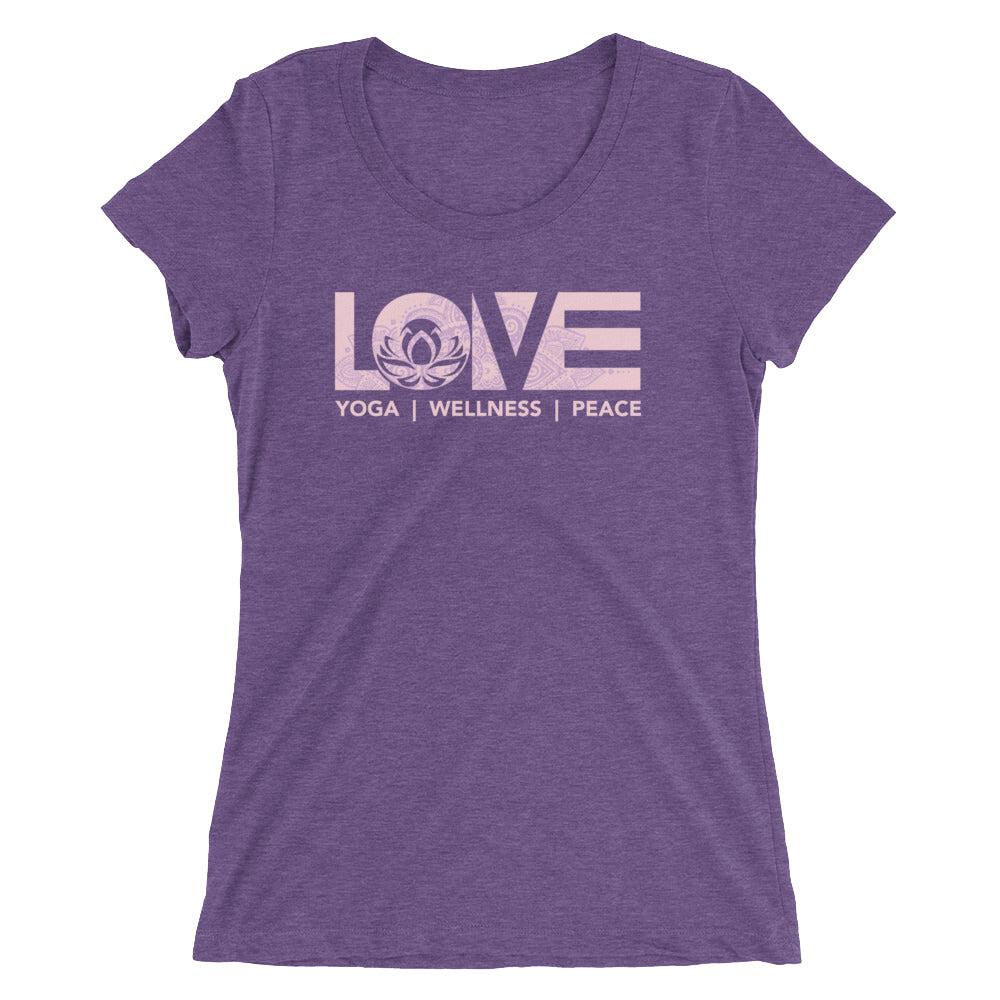 Purple LOV=Yoga Ultra Slim Fit Triblend Tee