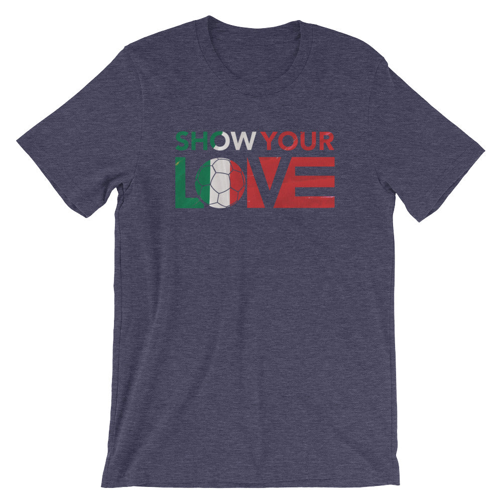 Heather Midnight Navy Show Your Love Italy Unisex Tee