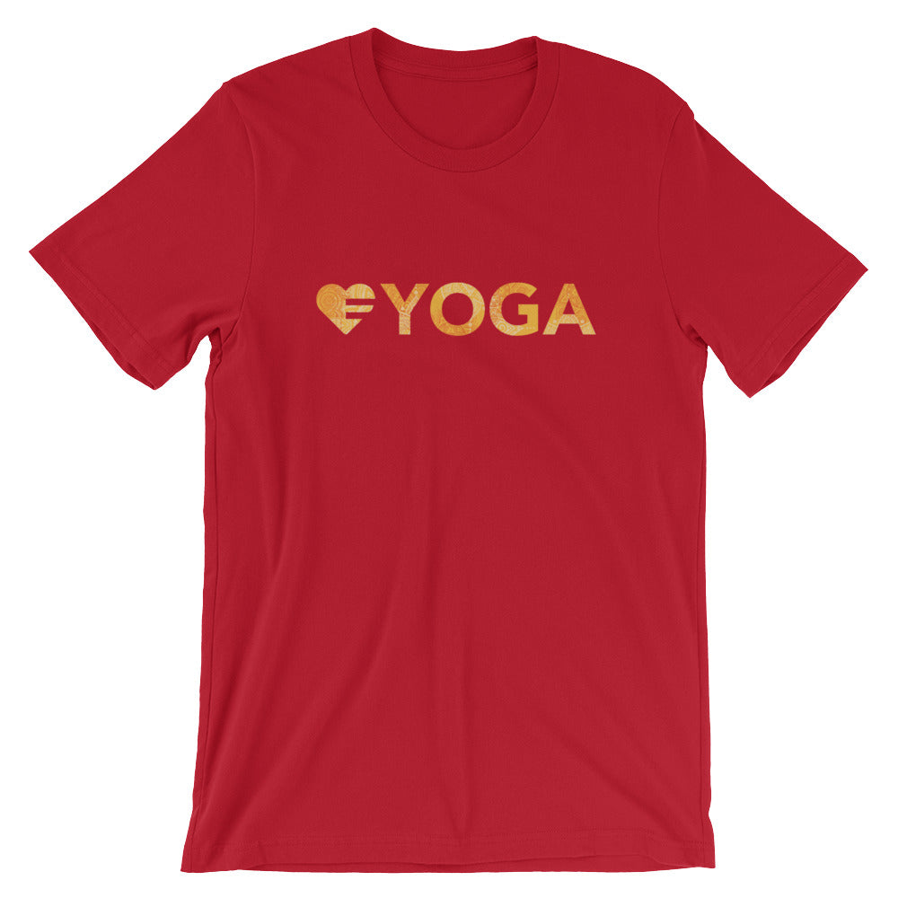 Red Heart=Yoga Unisex Tee
