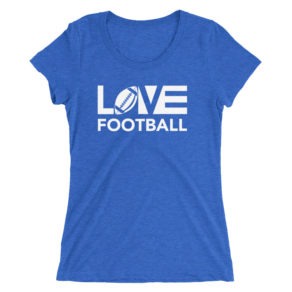 True royal LOV=Football Ultra Slim Fit Triblend Tee