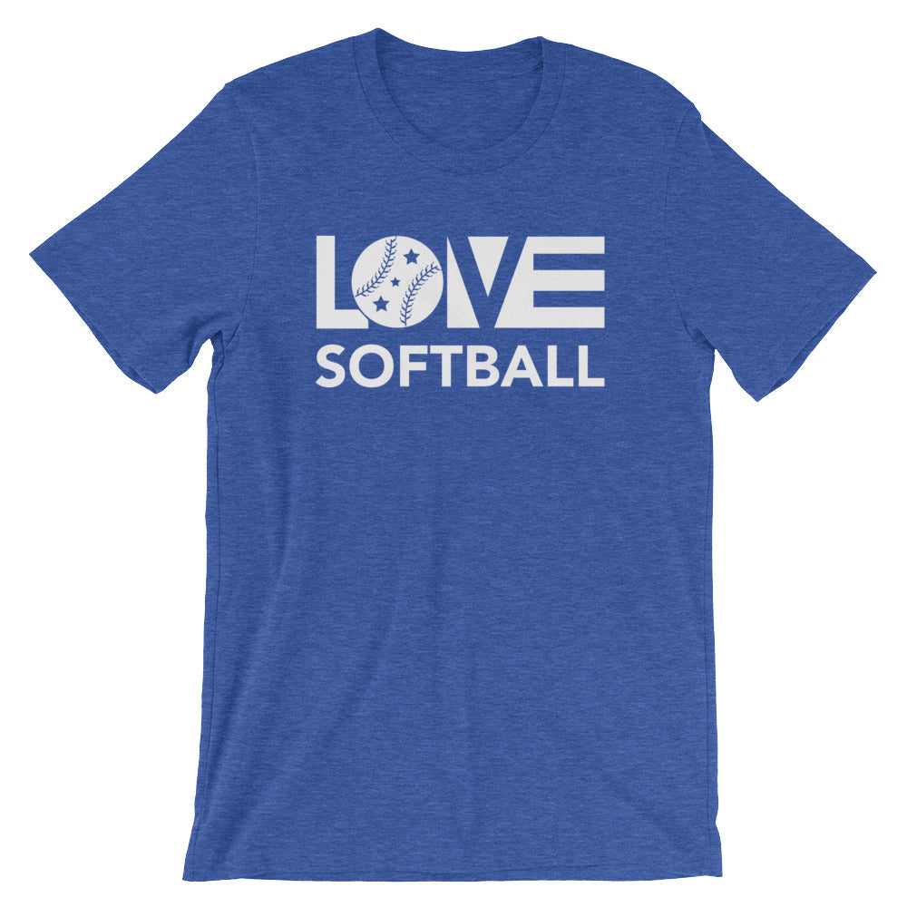 True royal LOV=Softball Unisex Tee