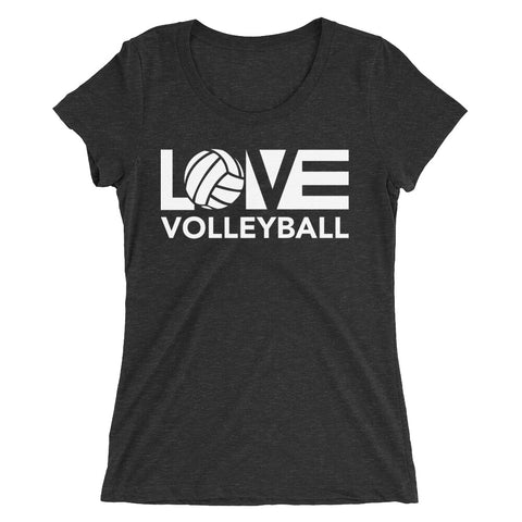 LOV=Volleyball Fashion Fit Triblend Tee