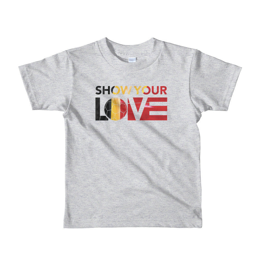 Heather Grey Show Your Love Belgium Kid's Tee