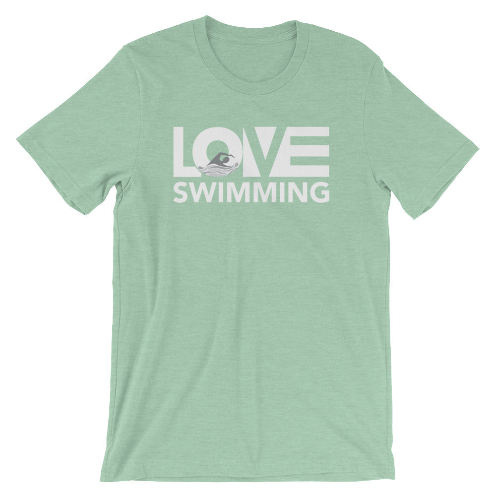 Prism mint LOV=Swimming Unisex Tee