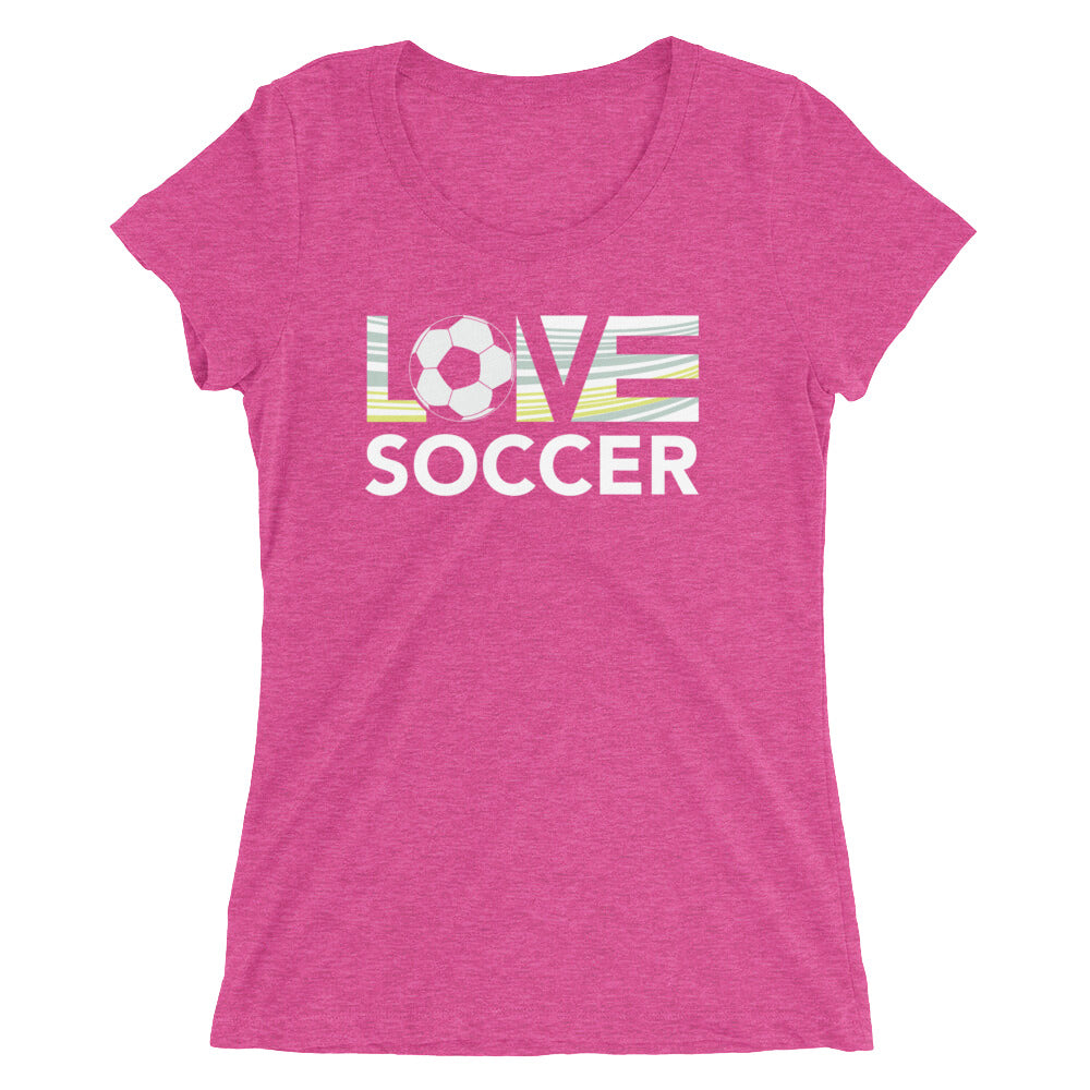 Berry LOV=Soccer Ultra Slim Fit Triblend Tee