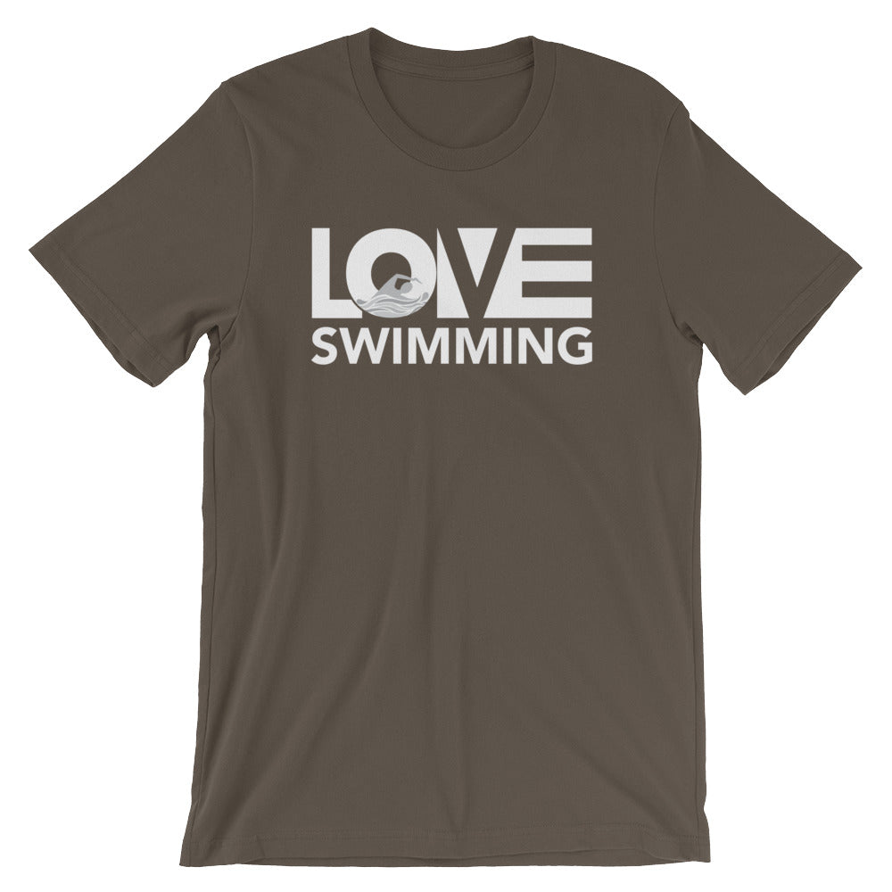 Army LOV=Swimming Unisex Tee