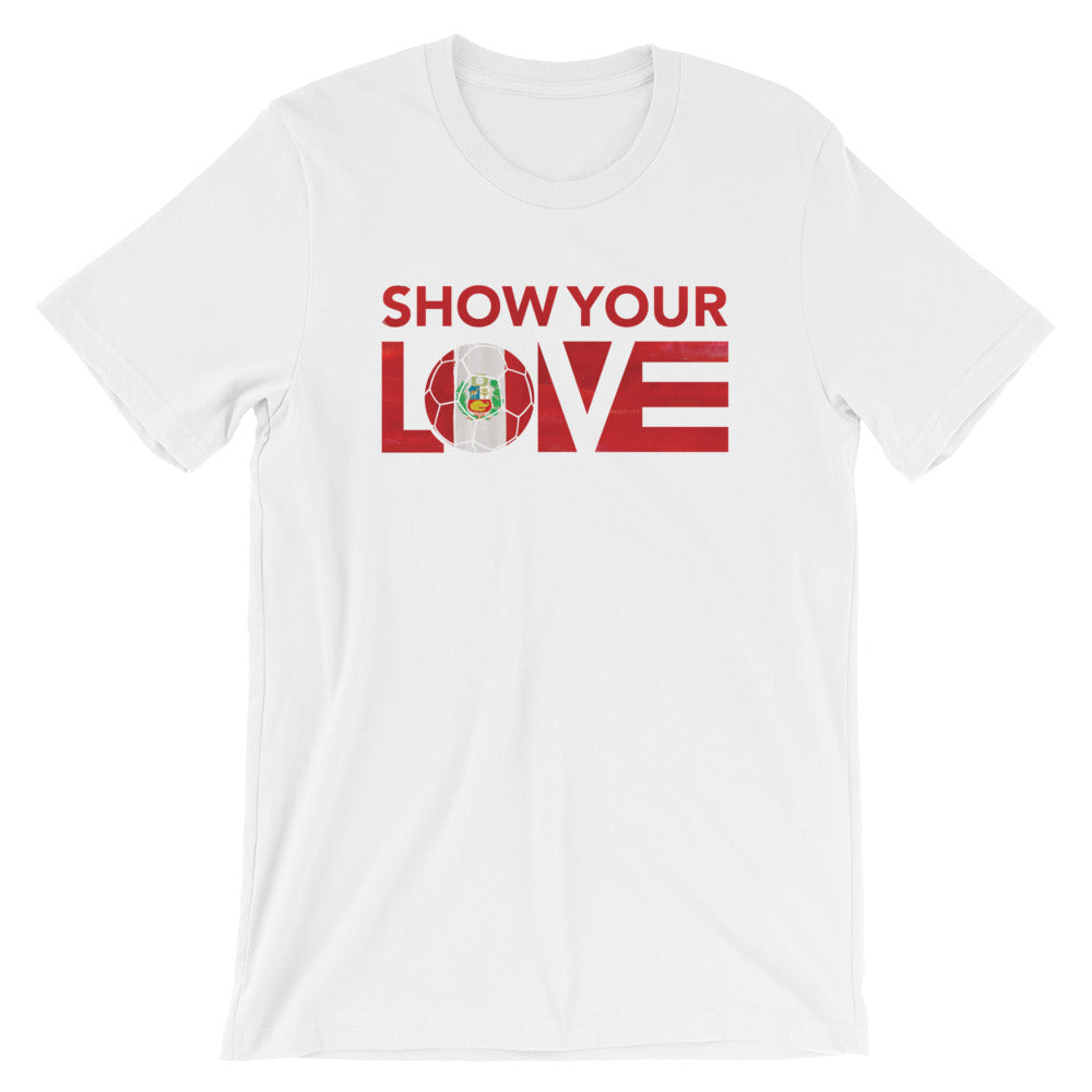 White Show Your Love Peru Unisex Tee