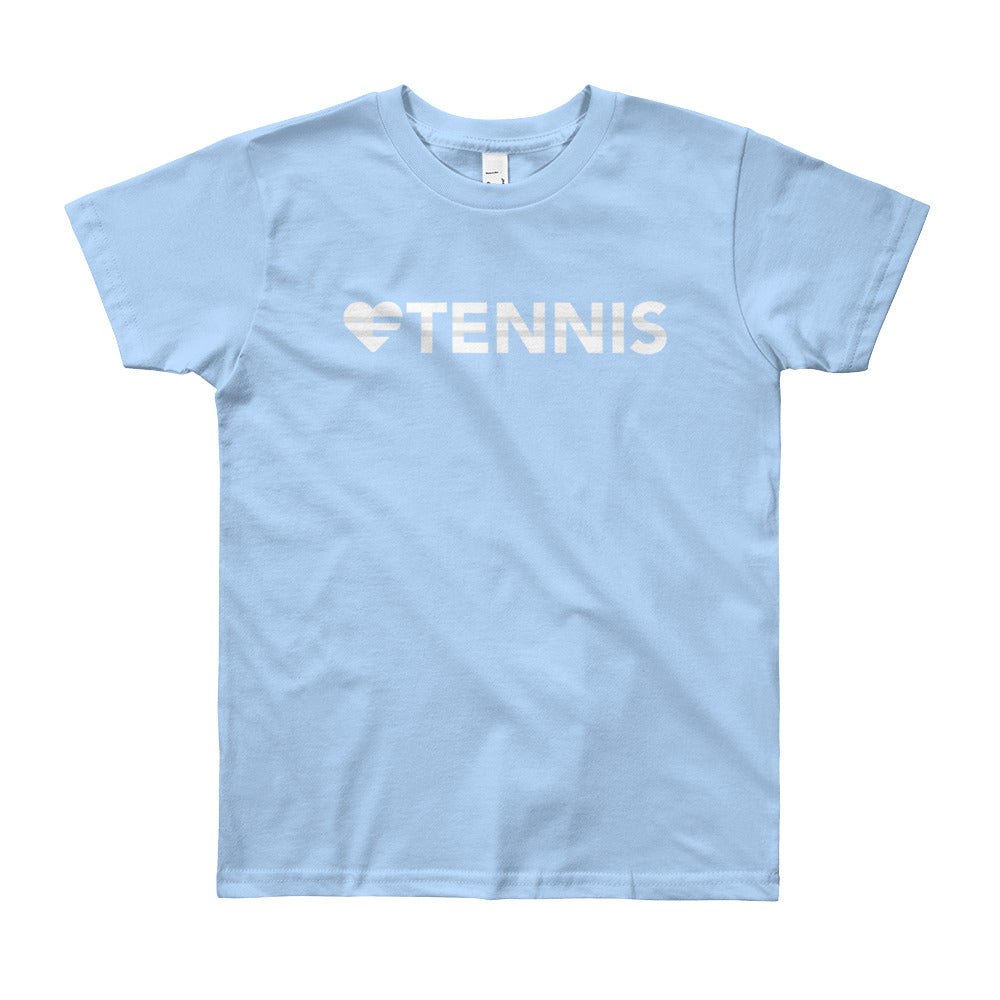 Baby blue Heart=Tennis Youth Tee