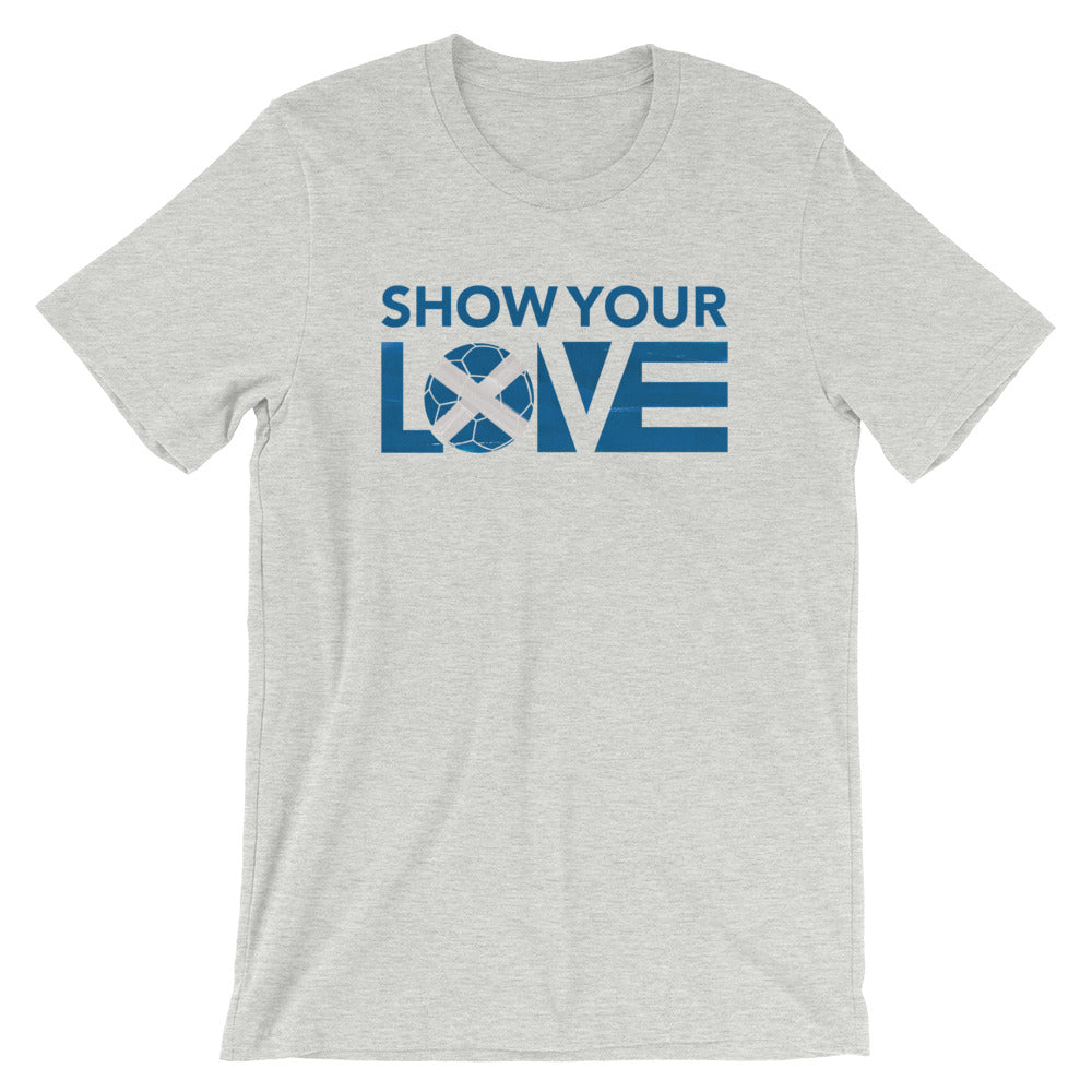 Athletic Heather Show Your Love Scotland Unisex Tee