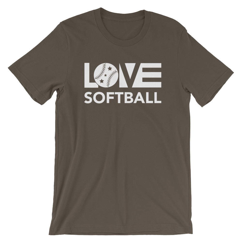 Army LOV=Softball Unisex Tee