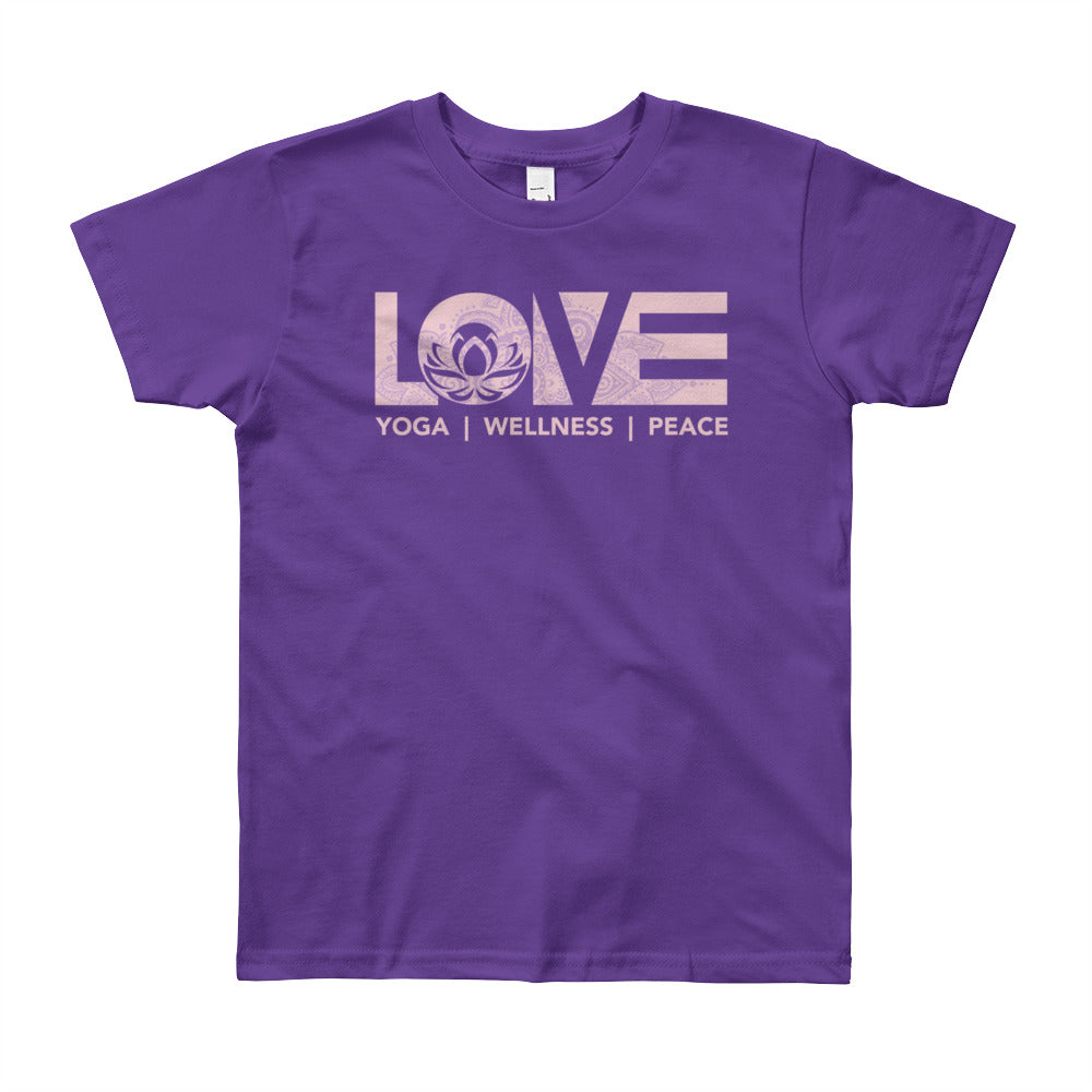 Purple LOV=Yoga Youth Tee