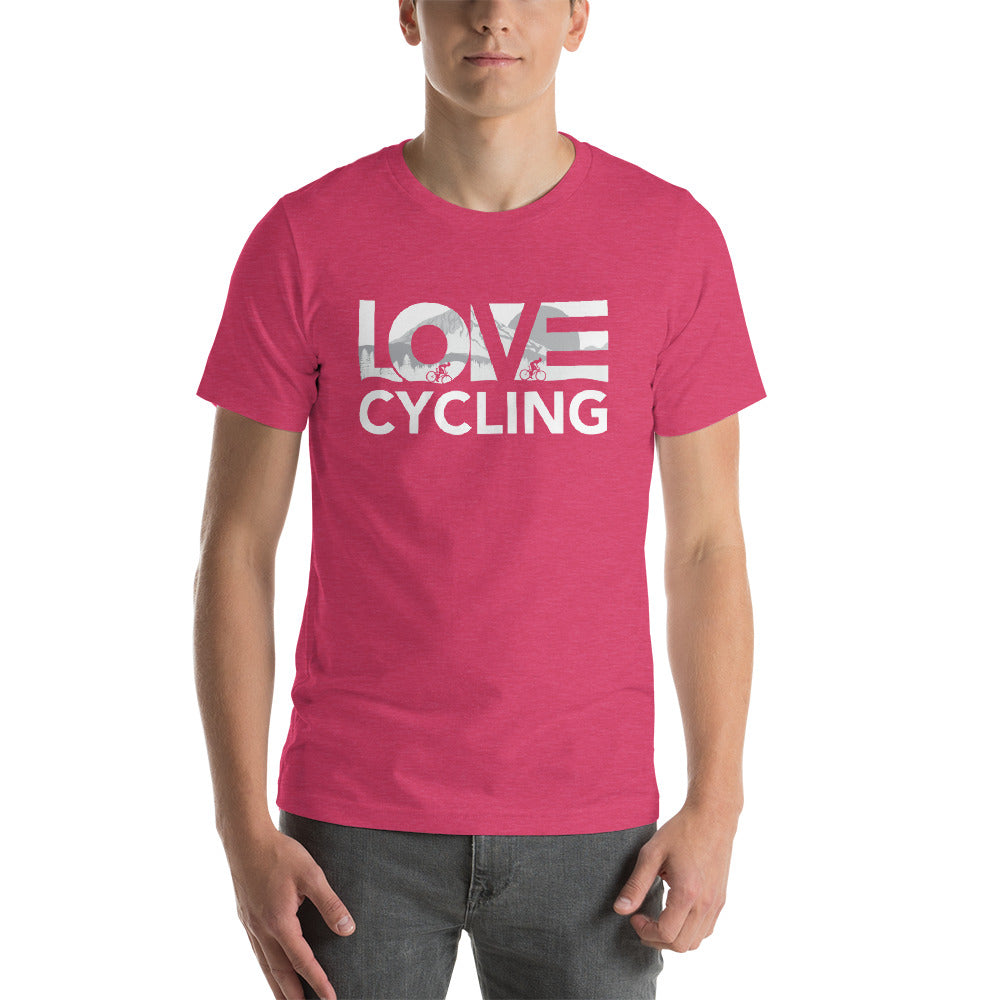 Raspberry LOV=Cycling Unisex Tee